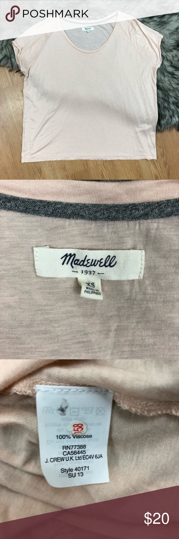 Madewell tee Pink tee size XS. Super soft!#34 Madewell Tops Tees - Short Sleeve