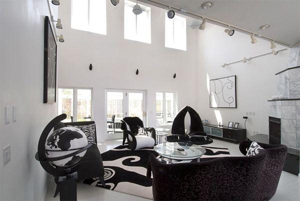 Die besten Ideen für schwarz weiße Wohnzimmer Wohnzimmer Designs - wohnzimmer design schwarz
