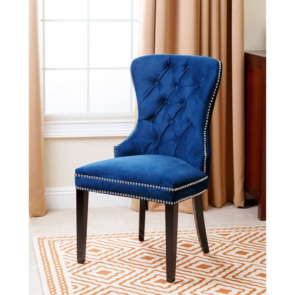 Abbysone Living Versailles Tufted Dining Chair Navy Blue