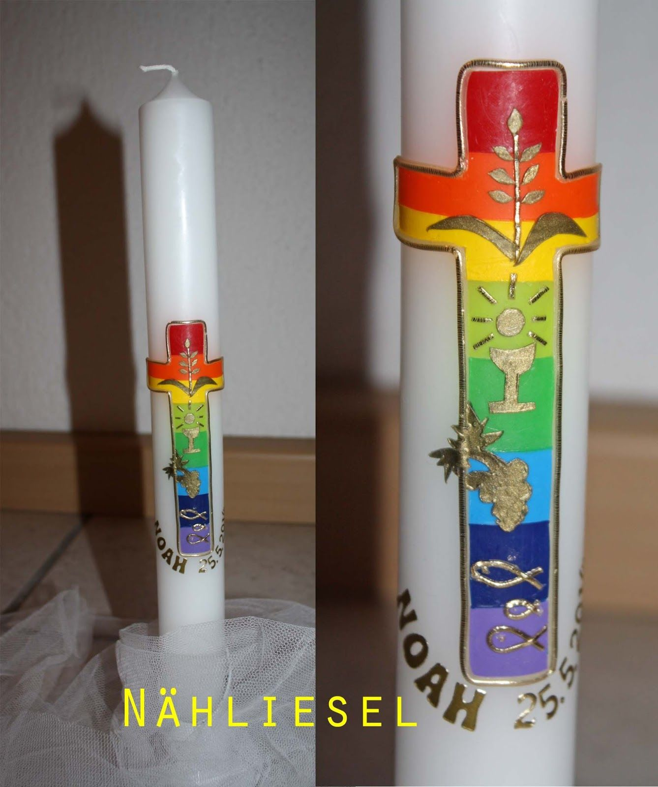 Taufkerzen Bilder Kommunionkerze Candle For The First Communion Alles