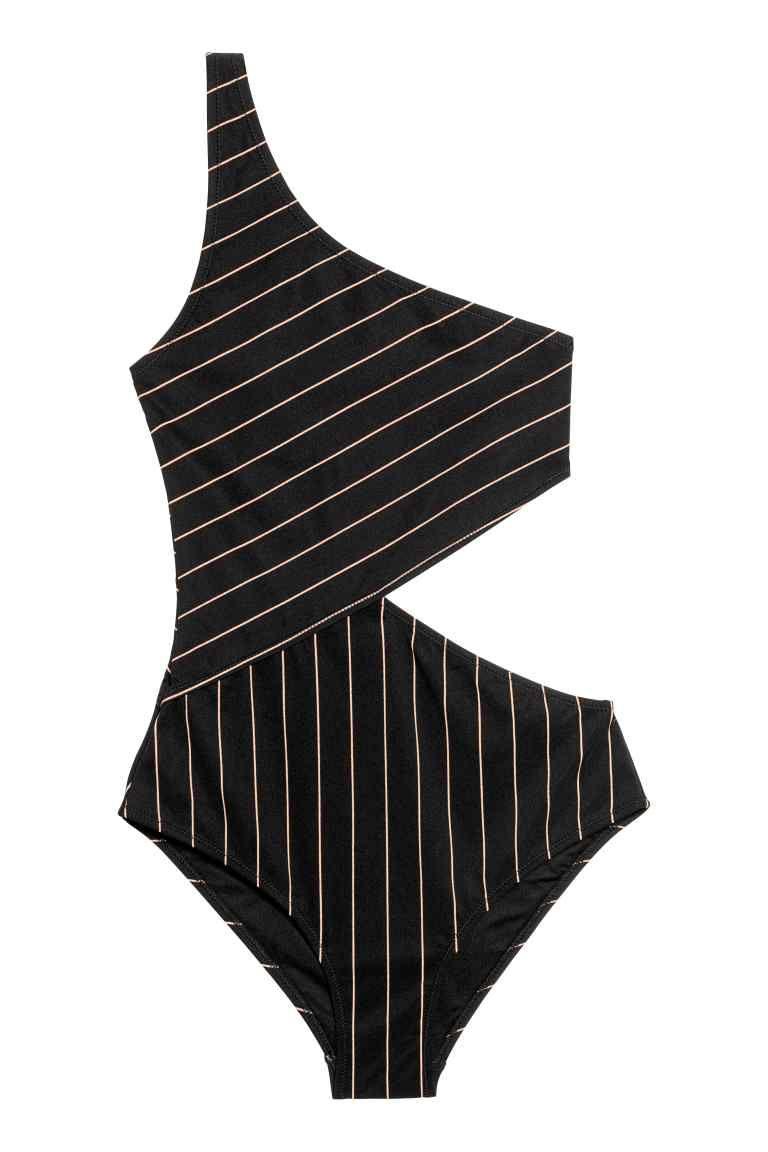 Zwembroek Mode 2019.One Shoulderbadpak In 2019 H M One Shoulder Swimsuit Black