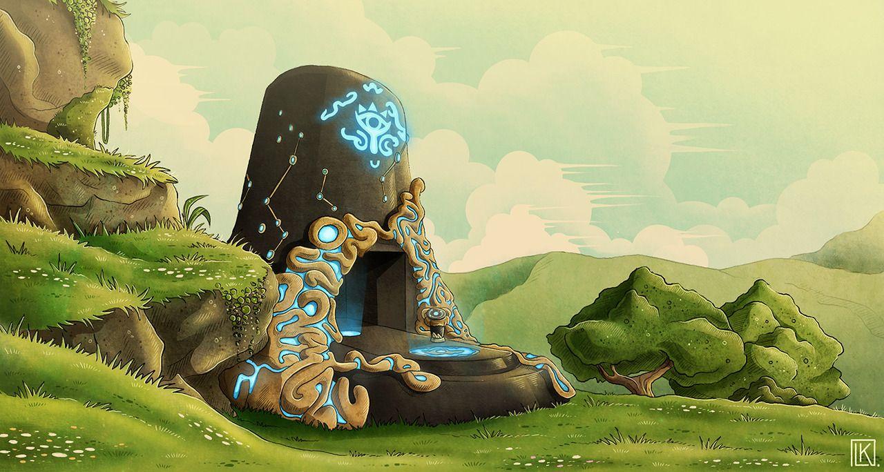 Legend Of Zelda Breath Of The Wild Art Sheikah Shrine Botw Livelylute Arts Shrines Art Legend Of Zelda Breath Art Inspiration