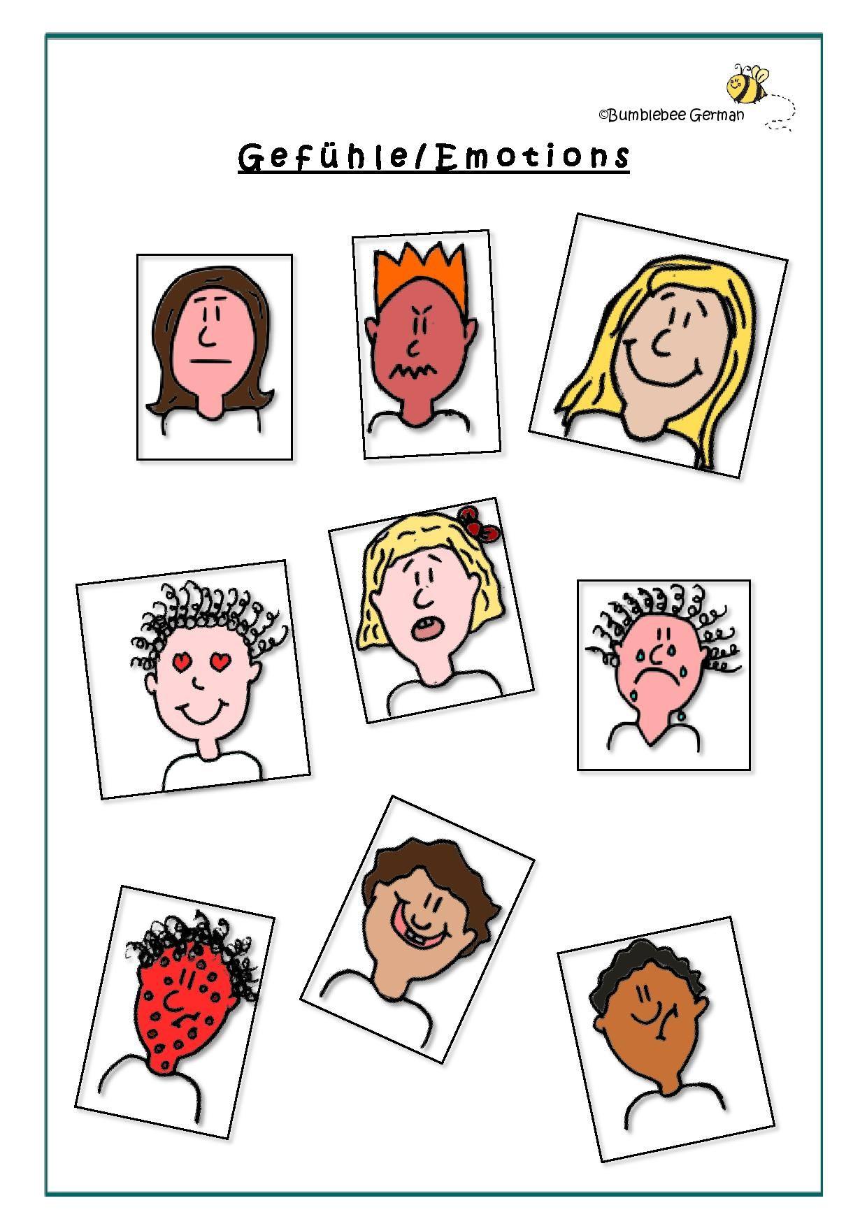 Emotions In German Worksheet