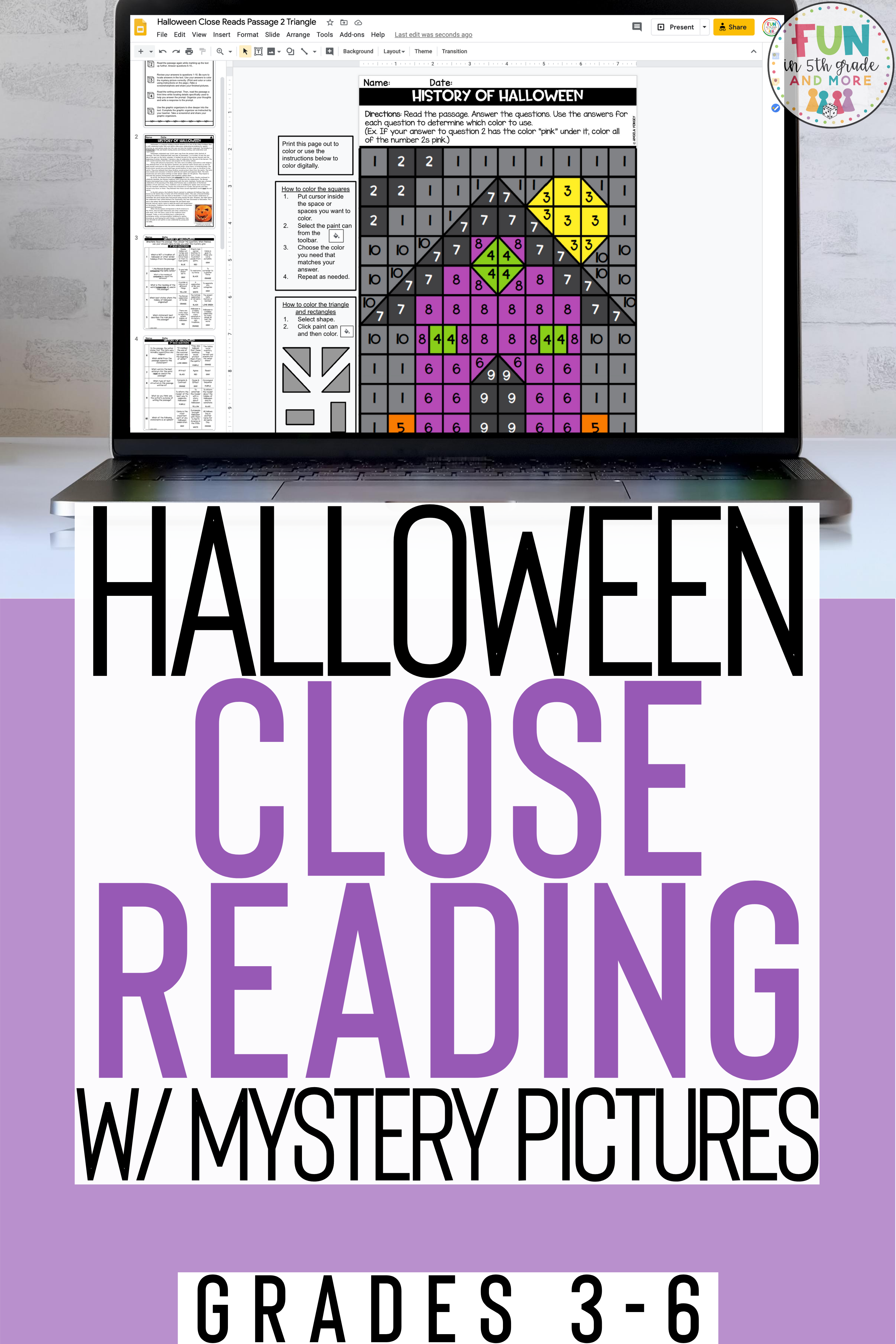Halloween Close Reading Passages With Mystery Pictures Halloween Reading Comprehension Halloween Reading Close Reading [ 4500 x 3000 Pixel ]
