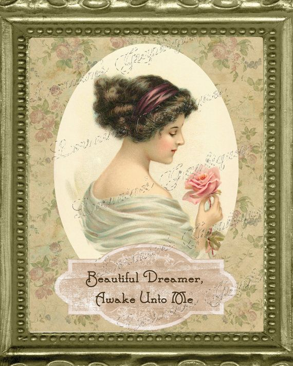 Victorian Femme Fatale Series 3 Beautiful Dreamer by ChezLorraines, $18.00
