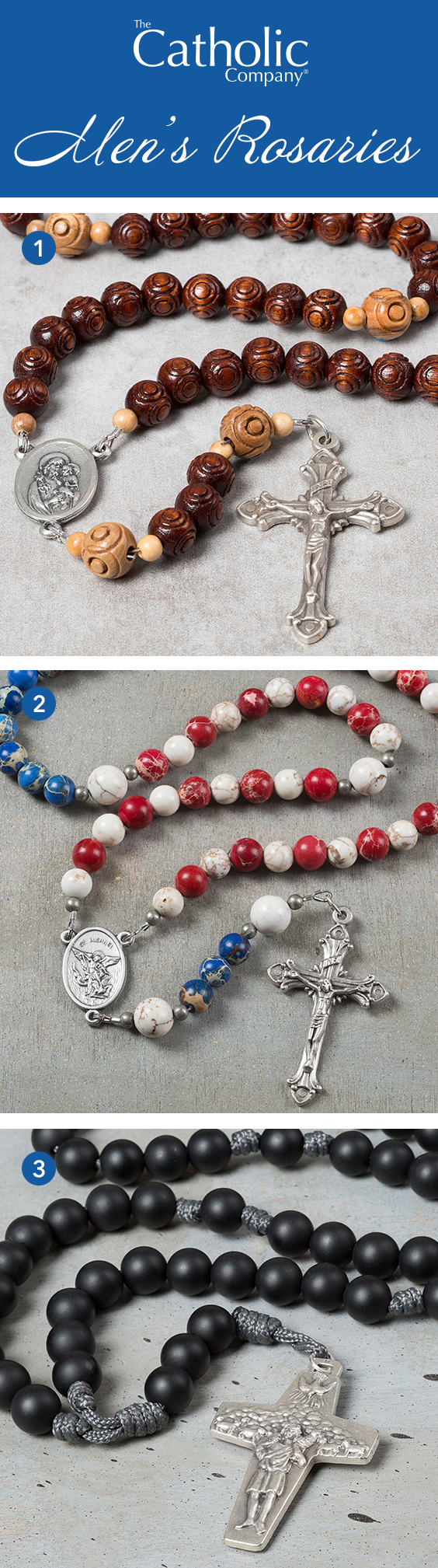 Makes a great gift for the special men in your life rosaries