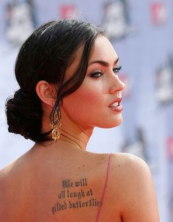 Megan Fox Tattoo We Will All Laugh At Gilded Butterflies Tattoos