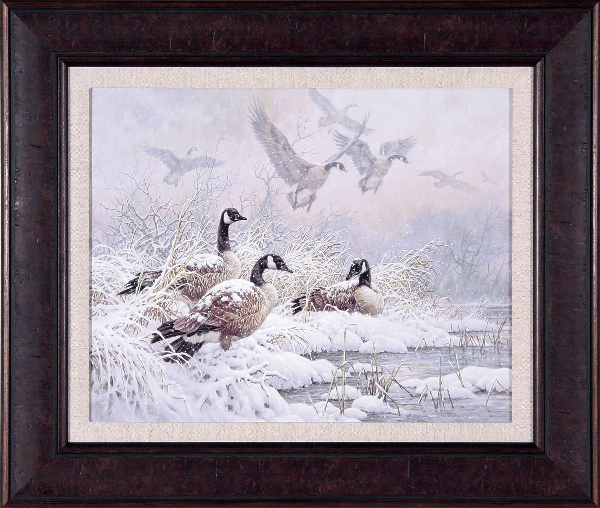 Winter Retreat by Larry Fanning Framed Painting Print