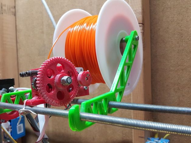 Prusa Spool Holder and Support for 1kg Spools by KingRahl