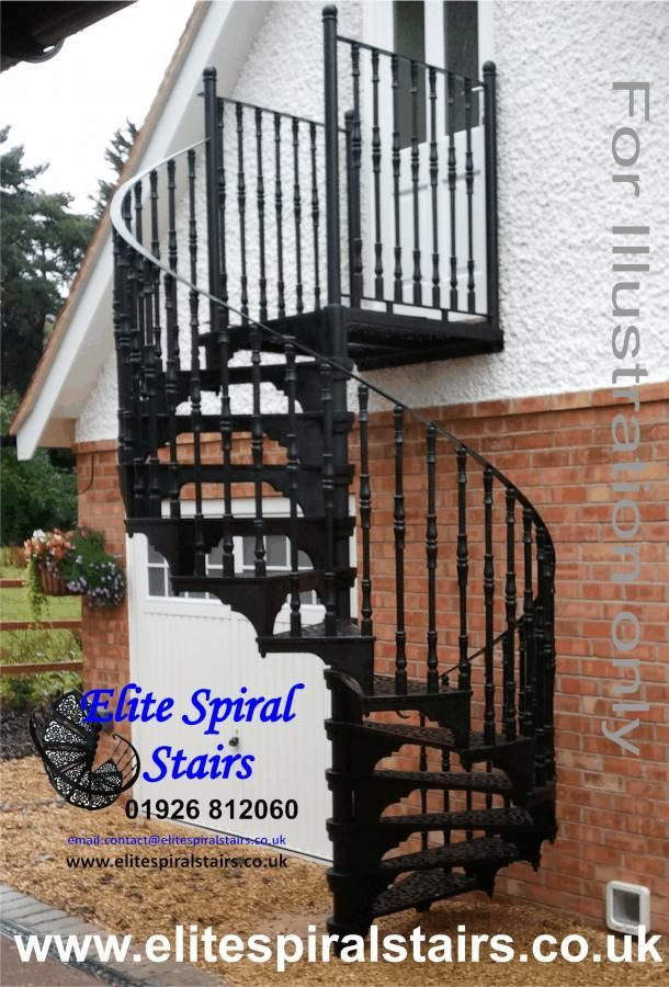 Best Vintage Spiral Staircase Stair Parts – Wrought Iron 400 x 300