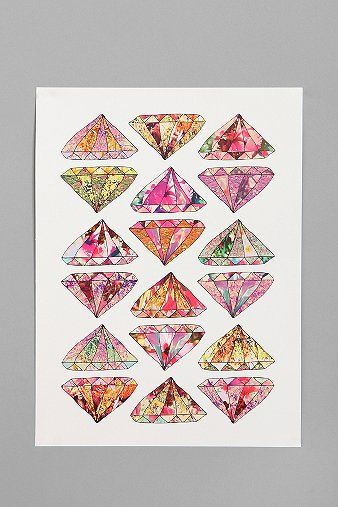 UrbanOutfitters.com > Bianca Green For Society6 These Diamonds Are Forever Print - i like this a lot a lot a lot.