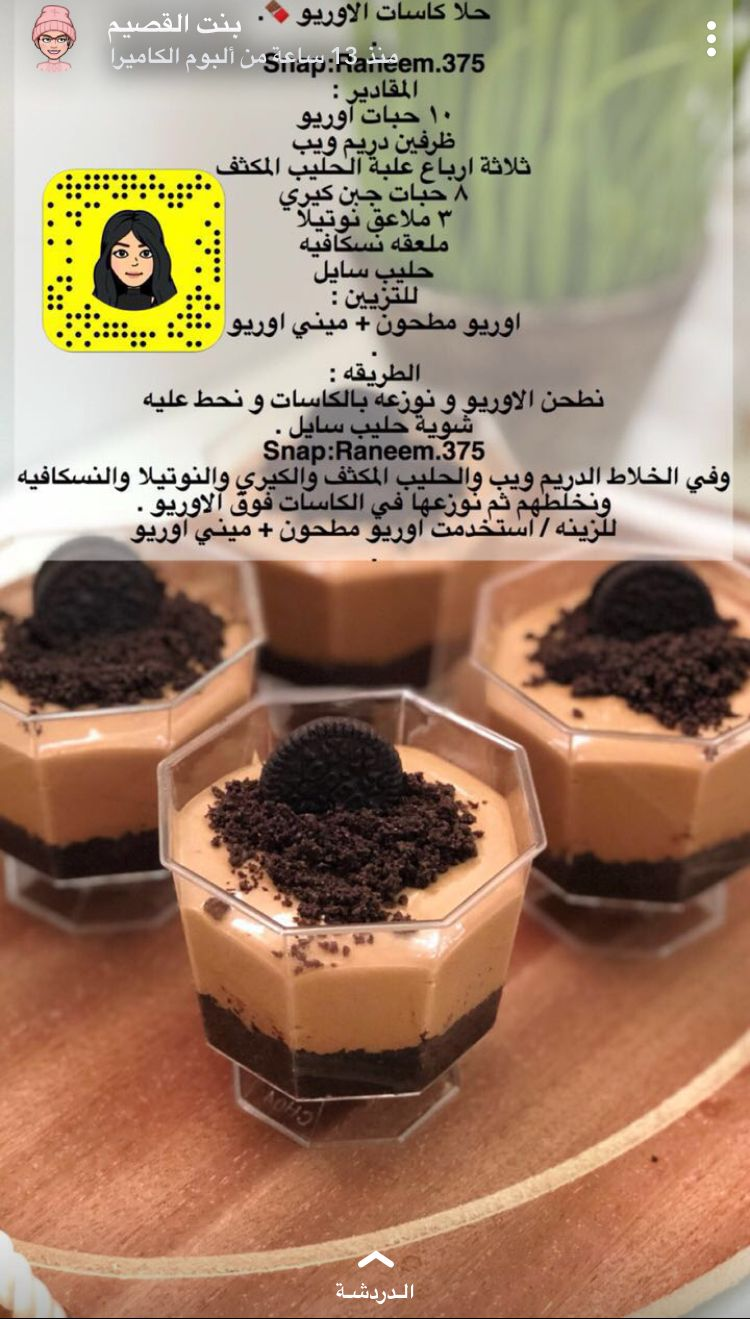 Pin By Ramya On حلويات حلى كاسات حلا كب Food Drinks Dessert Yummy Food Dessert Dessert Ingredients