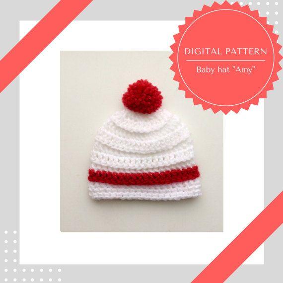 Baby Hat Crochet Pattern Unisex Baby Hat Pattern Pdf Pattern