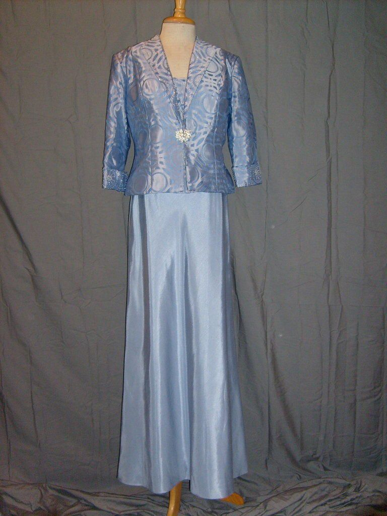 e381aab89a3 Size 10 Jackie Jon Formal Dress Blue Mother of the Bride Suit Full Length