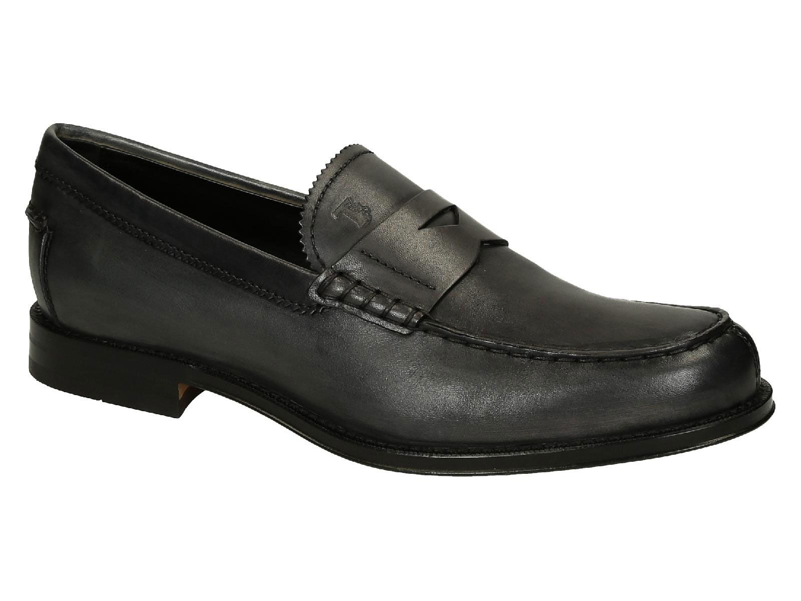 competitive price b766d c309f Tod's men's penny loafers in Anthracite Leather - Italian ...