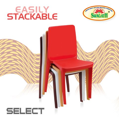 SELECT monoblock chairs with full solid and smooth backrest gives a bold look and a commanding presence compared with other chairs available in the market. This matte finish chairs are available in various attractive colors to choose from. Get more details here at www.swagath.co !!