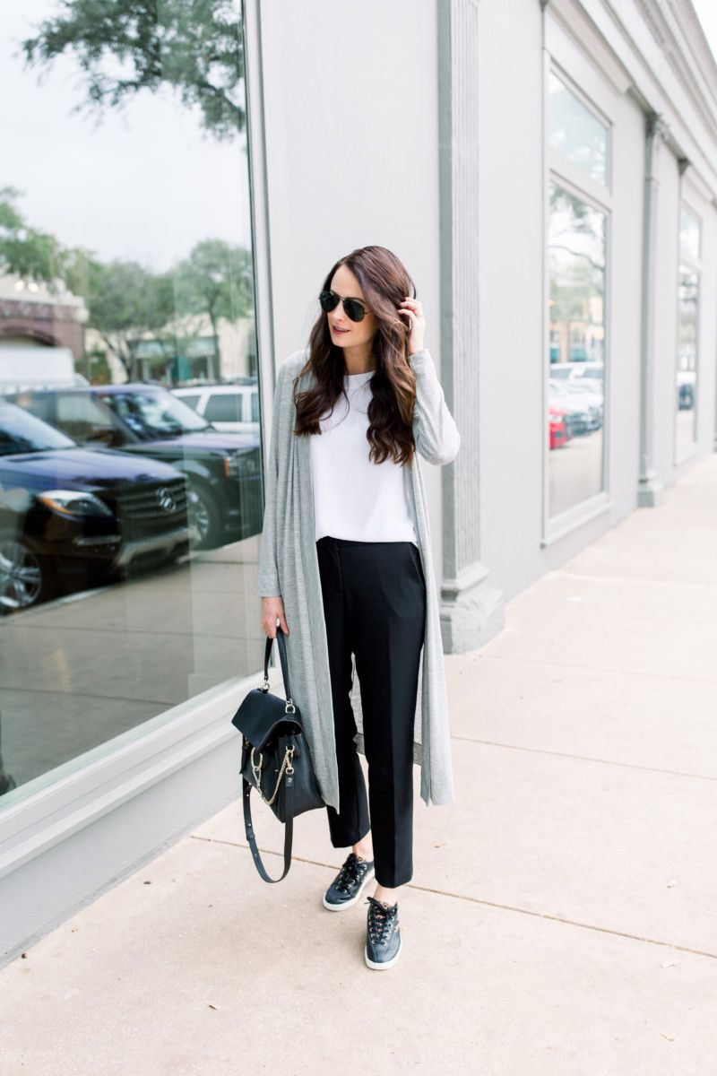 5 Ways To Wear Black Work Pants The Miller Affect Casual Work Outfits Wearing Black How To Wear [ 1200 x 800 Pixel ]