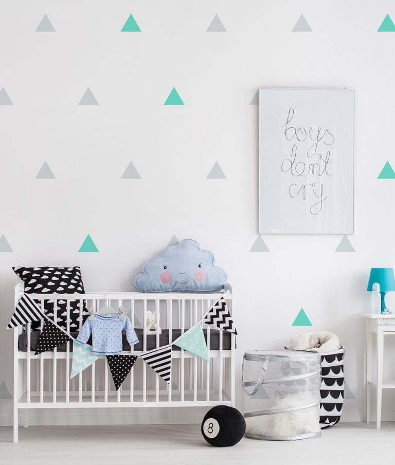 Triangle Wall Decals Kids Room Wall Decals Wall Stickers