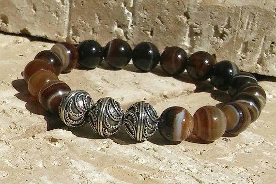 Luxury Lifestyle Men's Gemstone Bracelet #luckygentbracelets https://www.etsy.com/listing/272012158/gemstone-luxury-affluent-lifestyle-mens