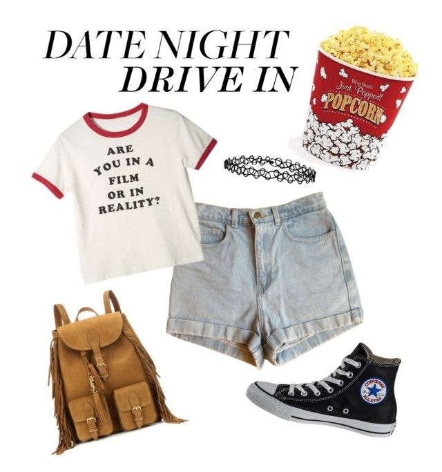 """""""SUMMER DATE: THE DRIVE IN"""" by m-phil ❤ liked on Polyvore featuring American Apparel, Accessorize, West Bend, Yves Saint Laurent, Converse, DateNight, contestentry, drivein and summerdate"""