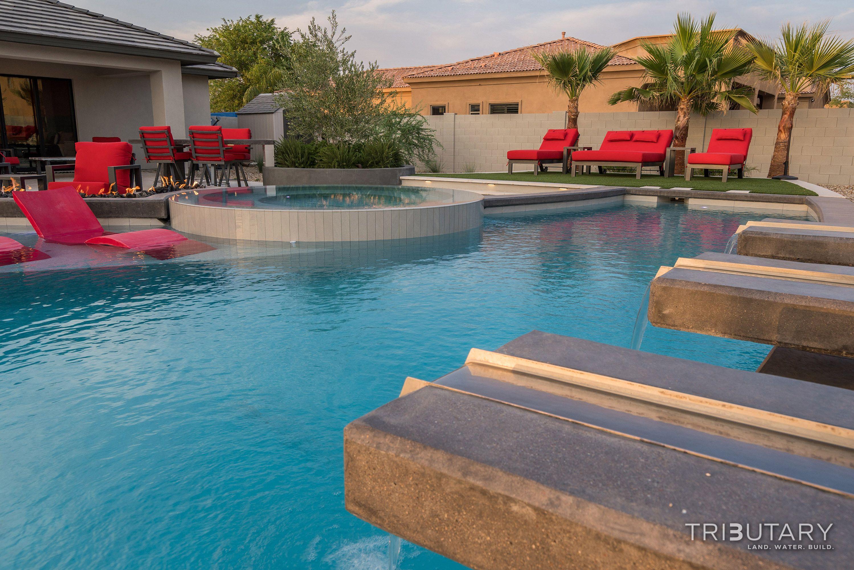 Tributary Pools Custom Pool Sleek Oasis Gilbert Diy Network Pool Kings Gilbert Arizona Paradise Luxury Pool Jeromey Naugle Watersh Pool Kings Custom Pools Pool