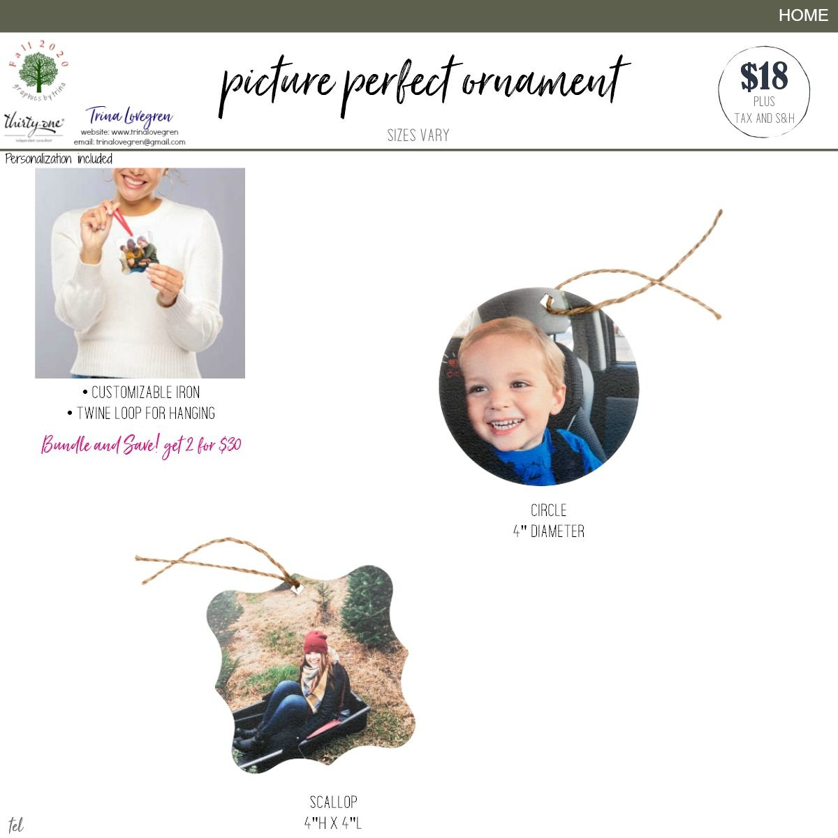 Picture Perfect Ornament Thirty One Thirty One Gifts Thirty One Business