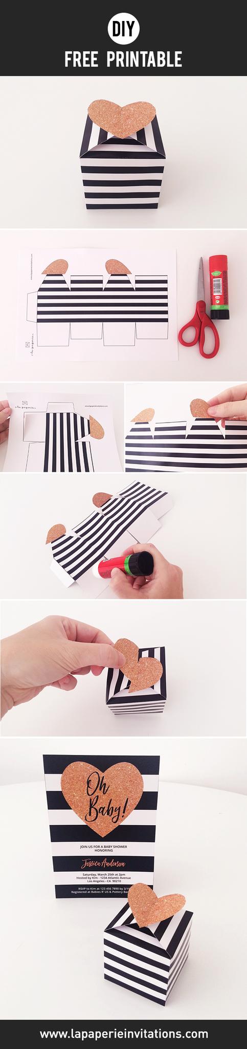 DIY Free Printable Favor Box | DIY Party Craft | Pinterest | Free ...