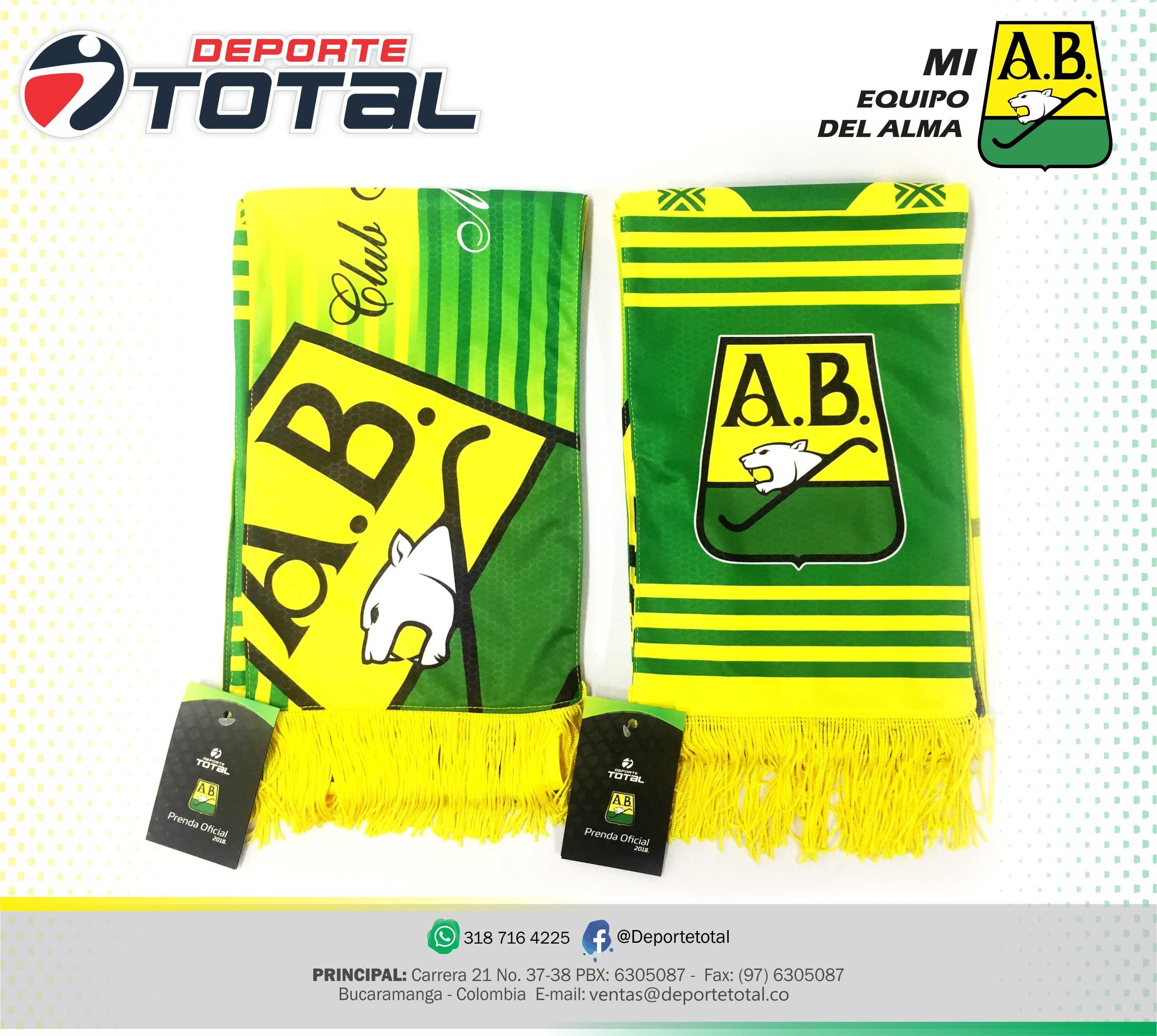 Bufanda Atletico Bucaramanga Futbol Deporte Total Colombia El Mejor Equipo De Colombia Diseno Innovacion Deportivo Deportes Articulos Deportivos Equipo
