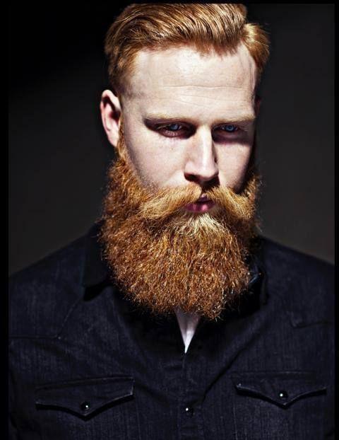 Ginger man Barba rizada Pinterest Tendencia moda, Moda