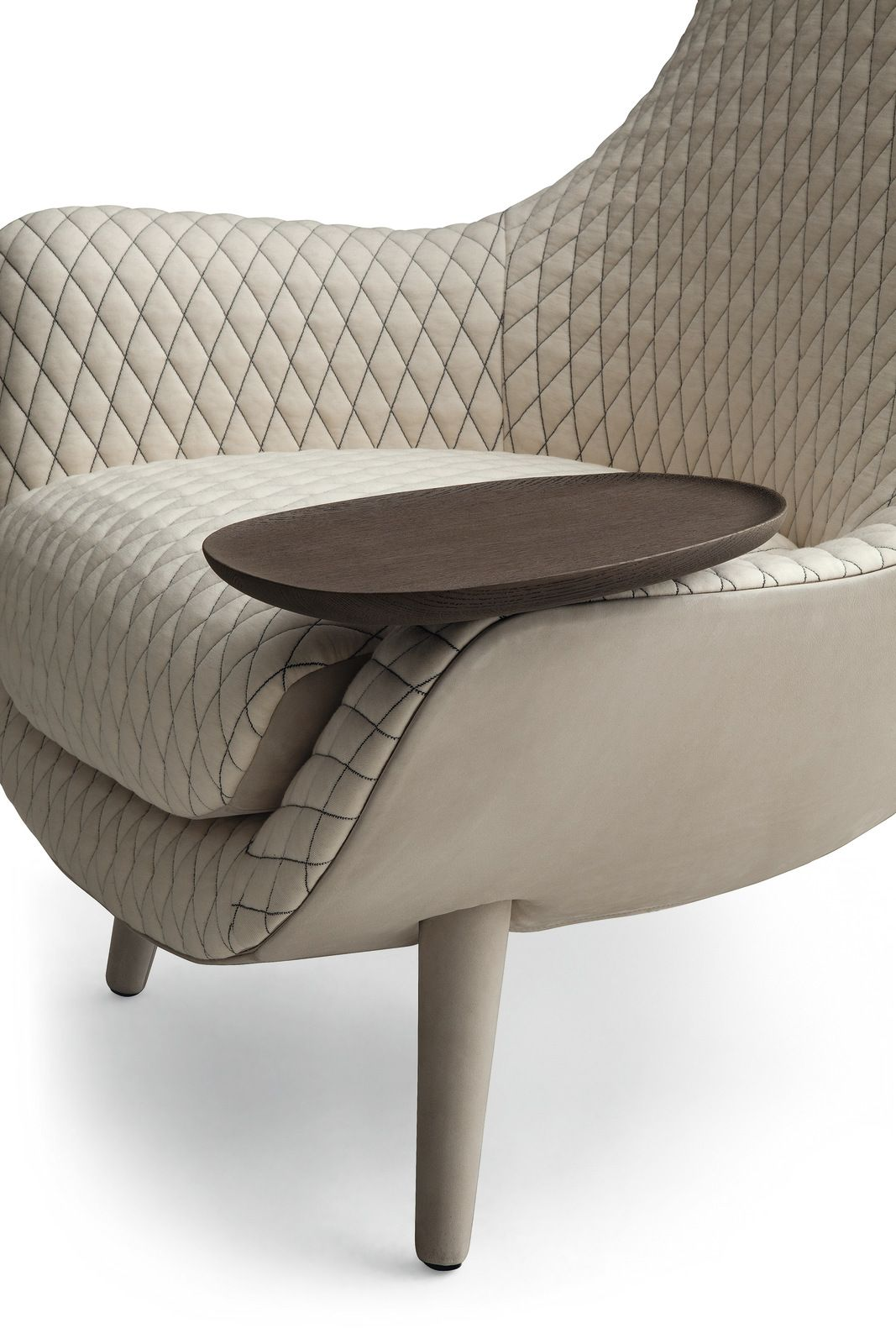 Furniture swivel and tub chairs dori fabric swivel cuddle chair - Upholstered Fabric Armchair With Armrests Mad King Mad Collection By Poliform Design Marcel Wanders