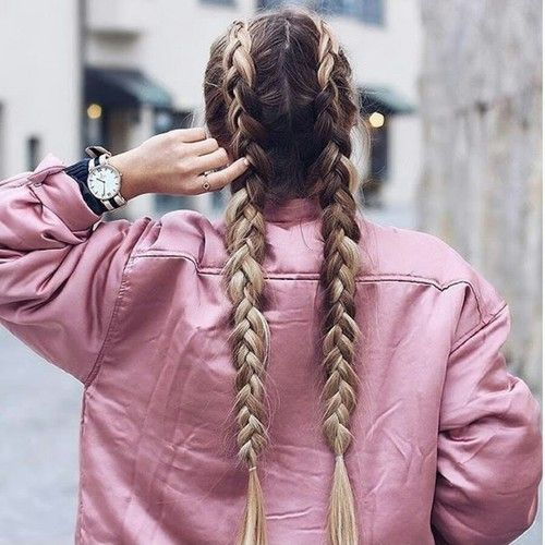 ✅✅hair, pink, and braid image