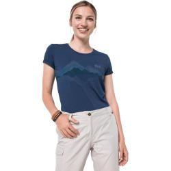 Jack Wolfskin Funktions-T-Shirt Frauen Crosstrail Graphic T-Shirt Women Xxl blau Jack Wolfskin #graphicprints