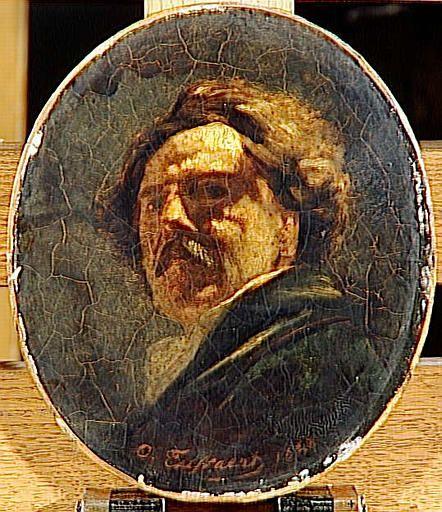 """""""Portrait de Jules Barbey d'Aurevilly"""", par Octave Tassaert, Musée des beaux-arts de Caen. Date1840"""
