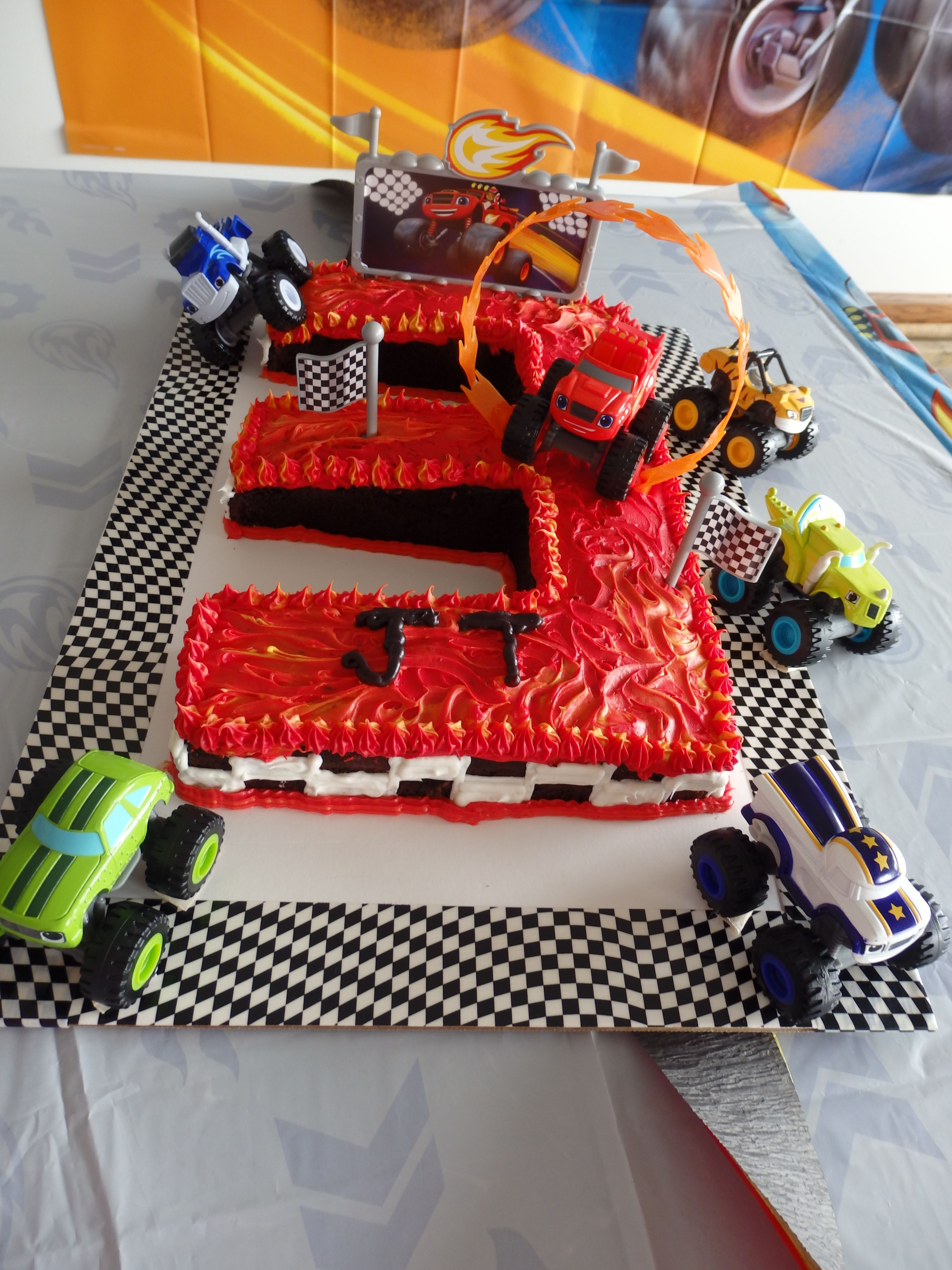 Super cool Blaze and the Monster Machines birthday cake ...