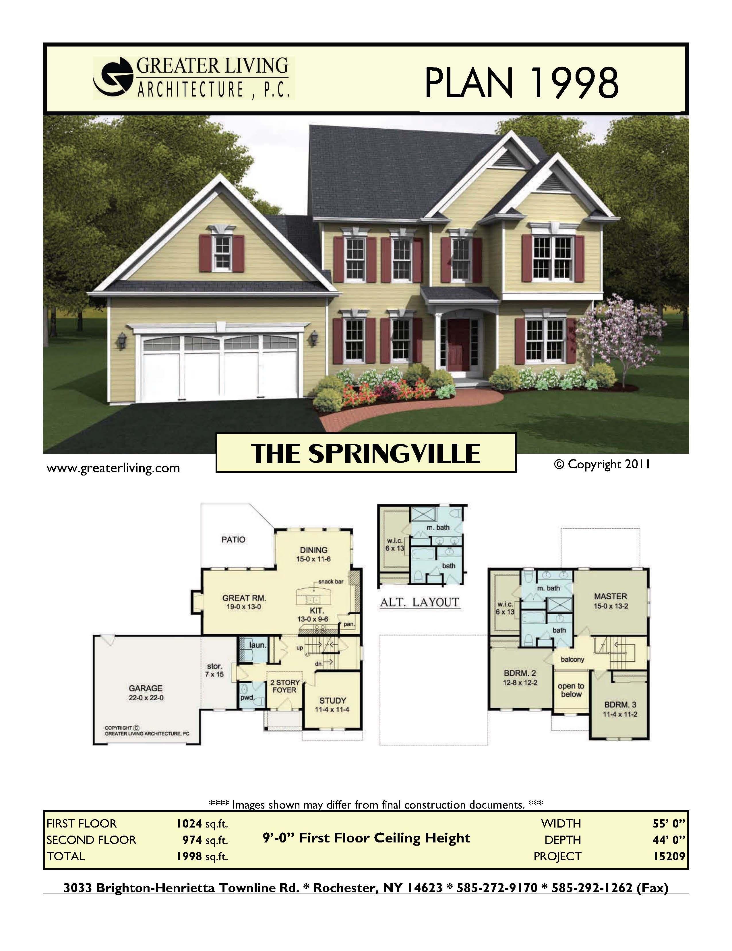 Plan 1998 The Springville House Blueprints Best House Plans Sims 4 House Building
