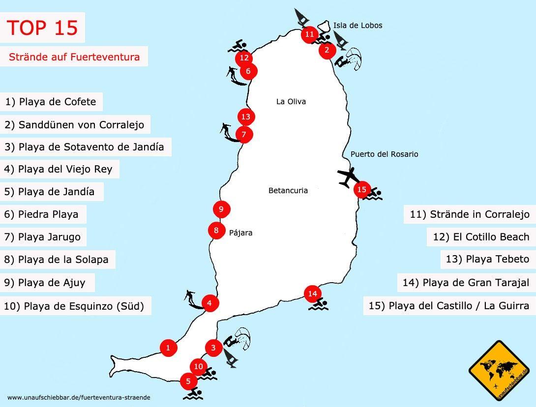 Fuerteventura Strände Top 15: Wo gibt es die besten