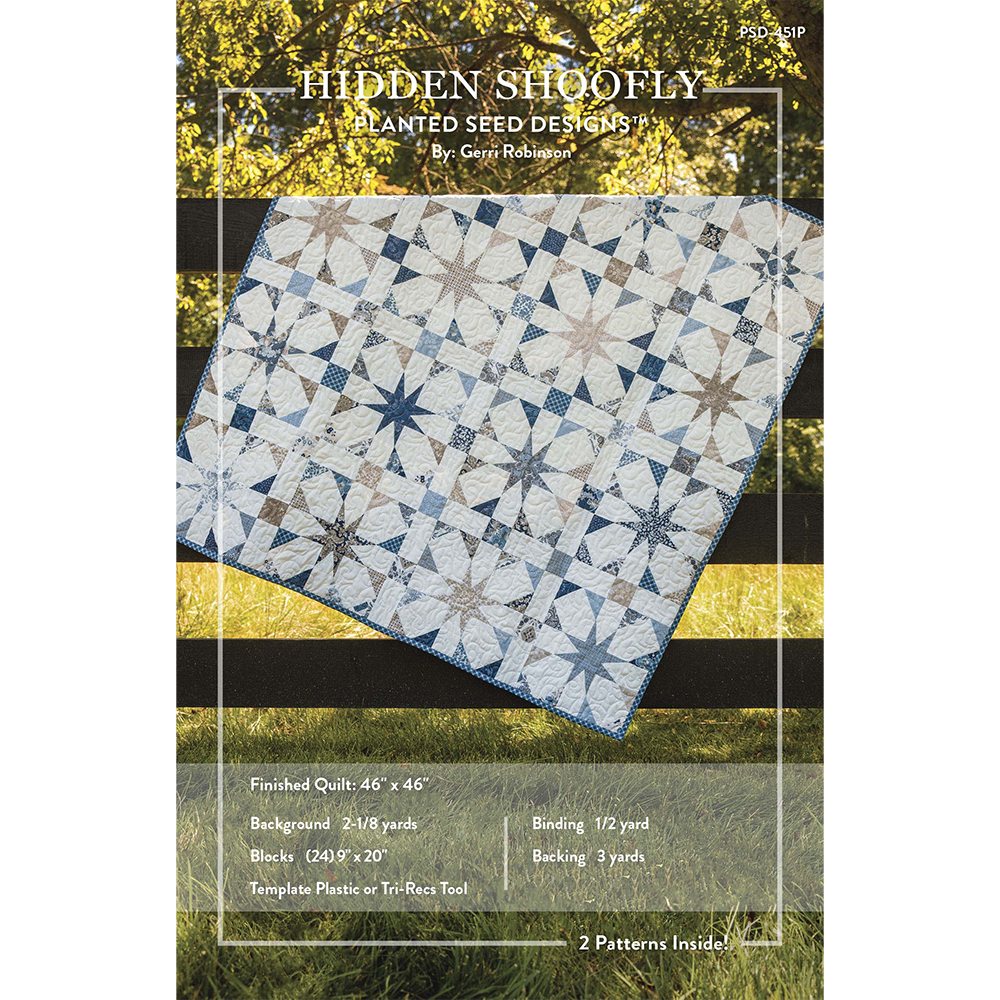 NEW! Flutter and Hidden Shoofly Patterns (PSD-451P) | Patterns, Fat ...