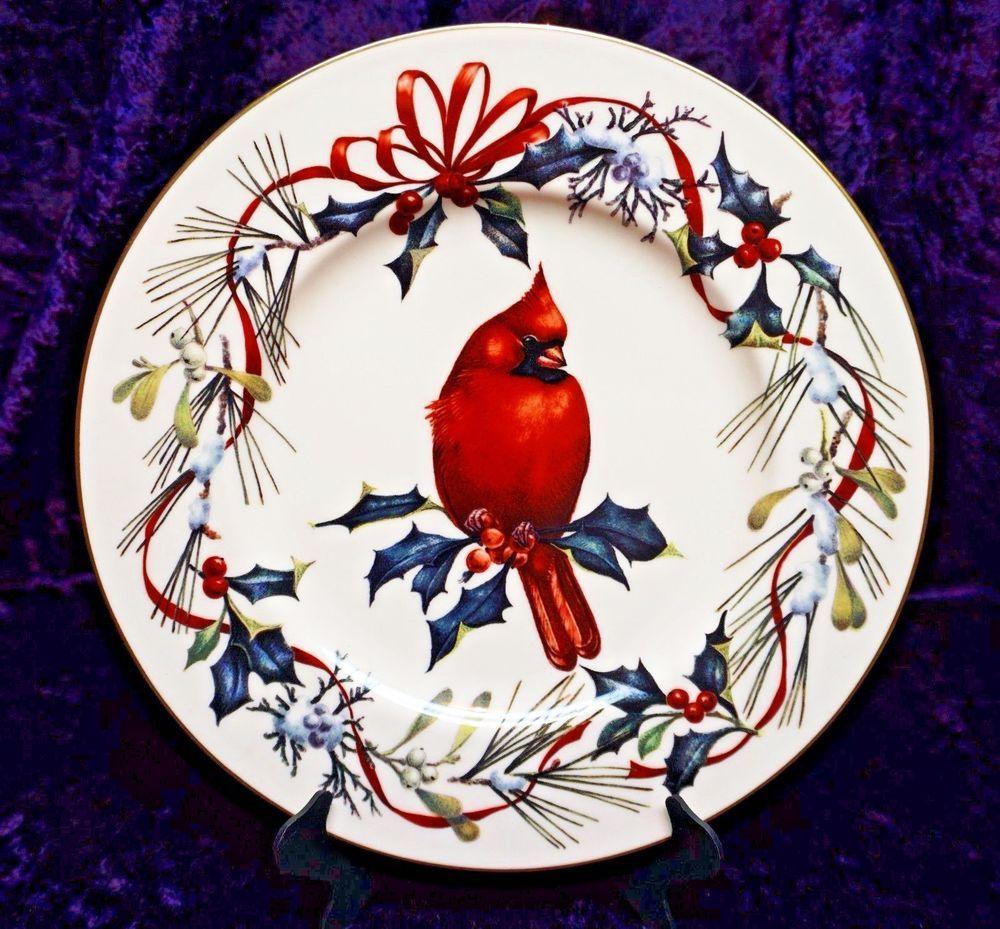 Lenox winter greetings cardinal 9 14 plate cardinals garden lenox winter greetings cardinal 9 m4hsunfo