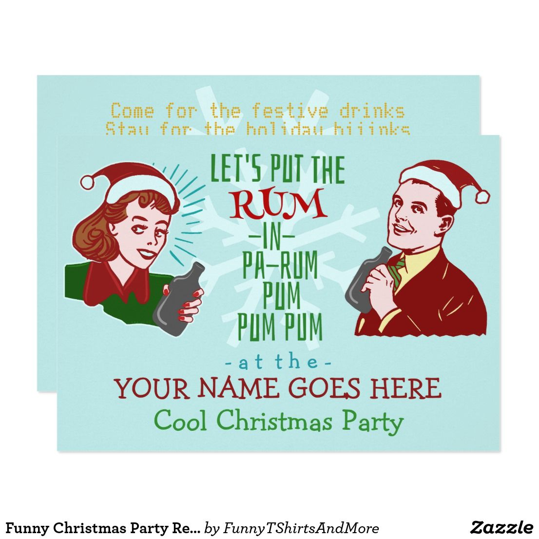 adult christmas party invitations