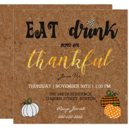 engagement party invitations kraft eat and drink thanksgiving