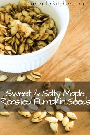 Sweet & Salty Maple Roasted Pumpkin Seeds