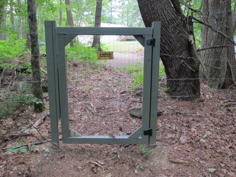 install electric fence gate