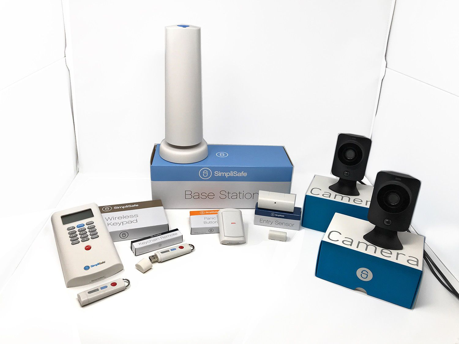 Simplisafe Wireless Home Security System Plus 2 Surveillance Cameras Wireless Home Security Home Security Systems Wireless Home Security Systems