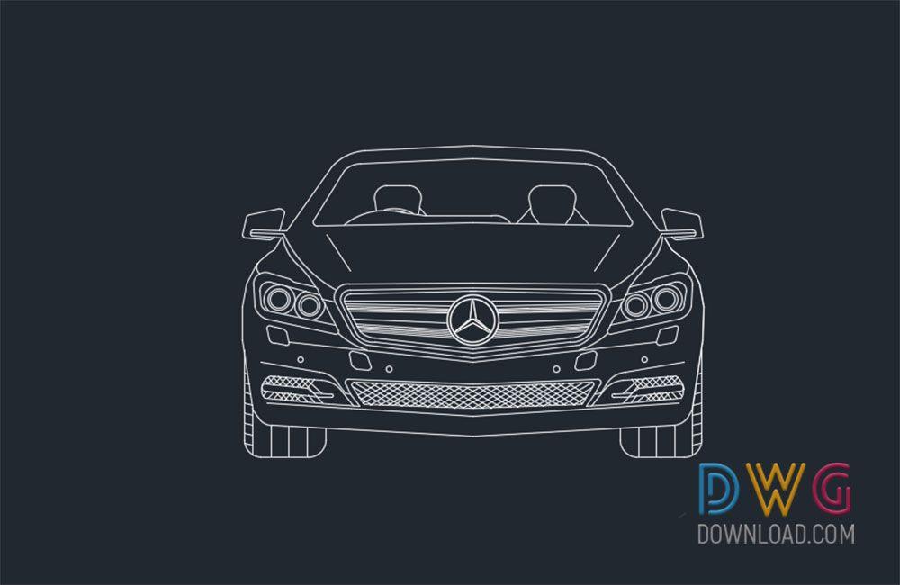 Mercedes Benz Car 2D Drawing  And about car dwg, car cad