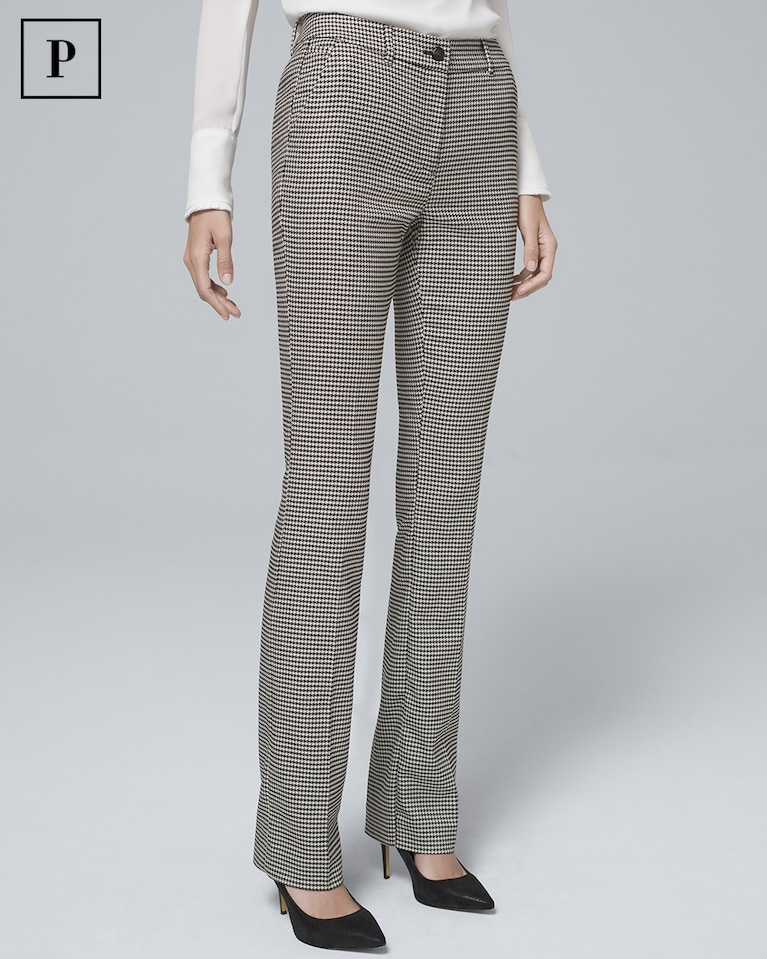 db044bc9caadbf Women's Petite Houndstooth Suiting Slim Pants by White House Black Market