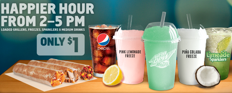 Taco Bell Happy Hour 1 00 Drinks Limeade Sparklers And More
