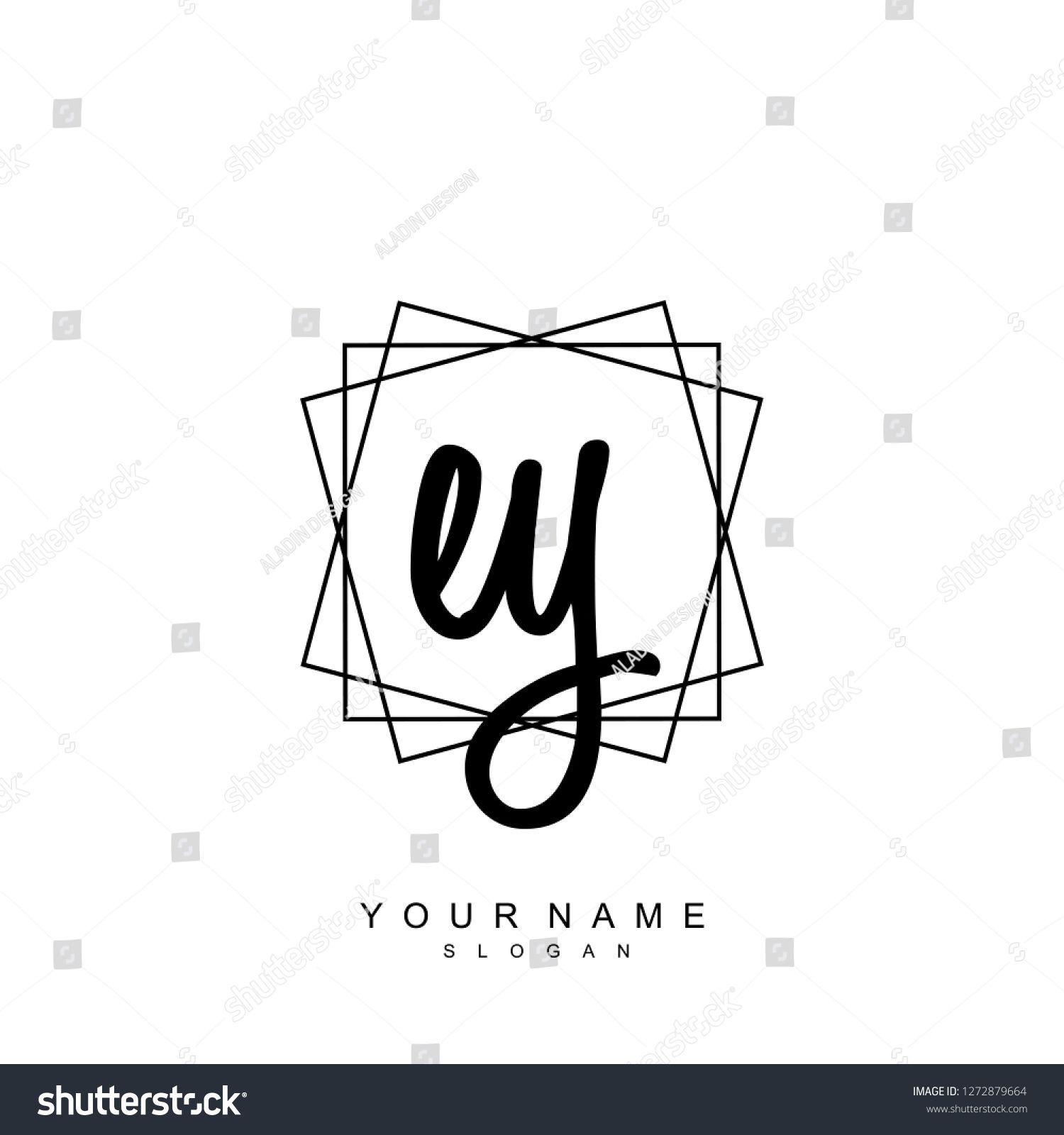 Initial EY handwriting logo vector EYInitialhandwriting