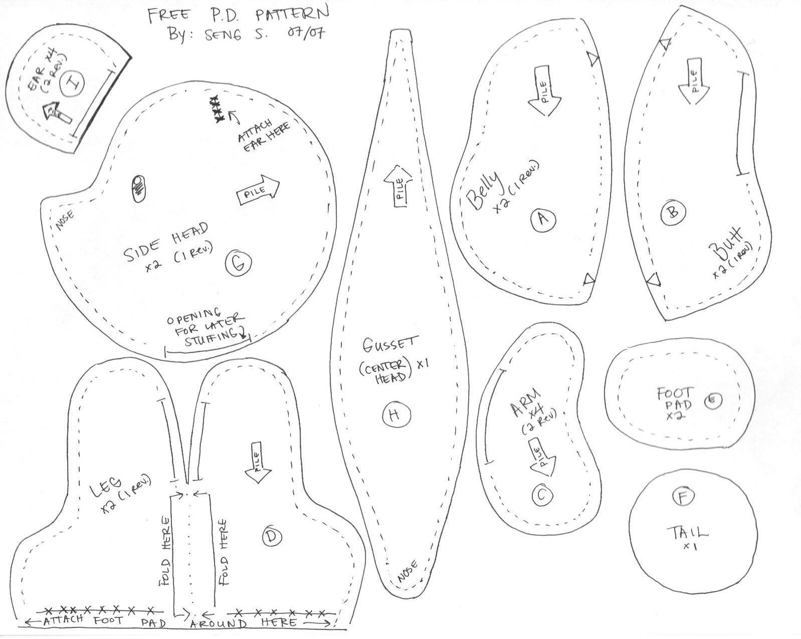 Free Teddy Bear Sewing Patterns For Beginners Peepsburgh