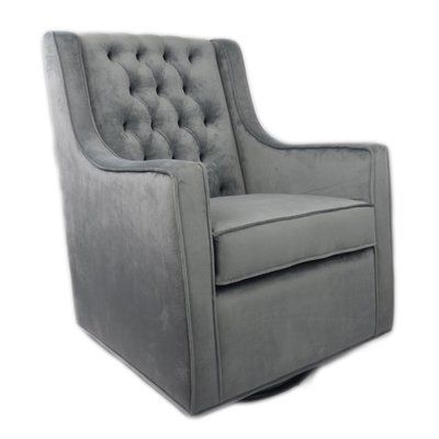 Tremendous Harriet Bee Hittle Velvet Glider Color Gray Products Andrewgaddart Wooden Chair Designs For Living Room Andrewgaddartcom