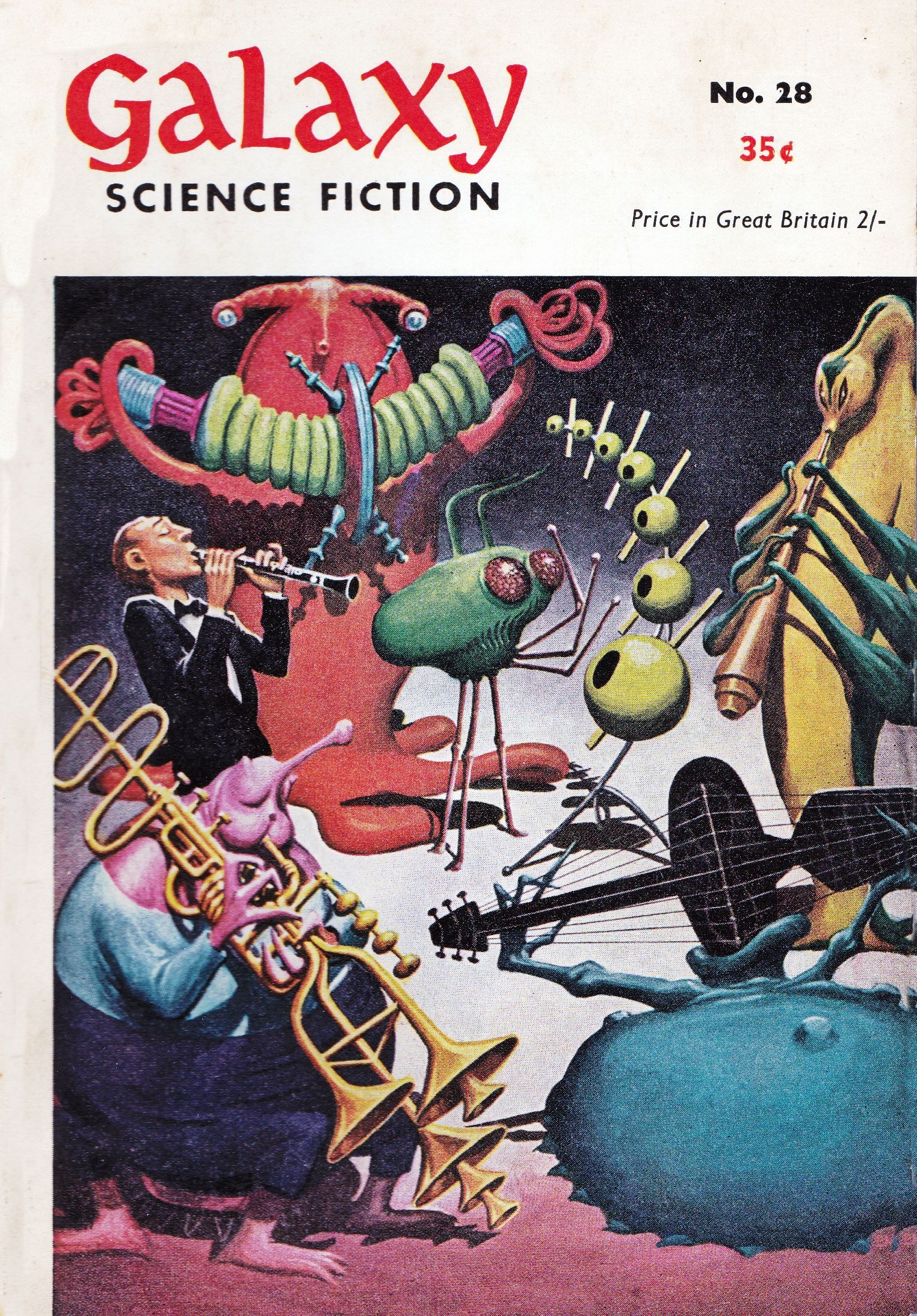 Galaxy Science Fiction Vintage Fantasy Cover Art Poster
